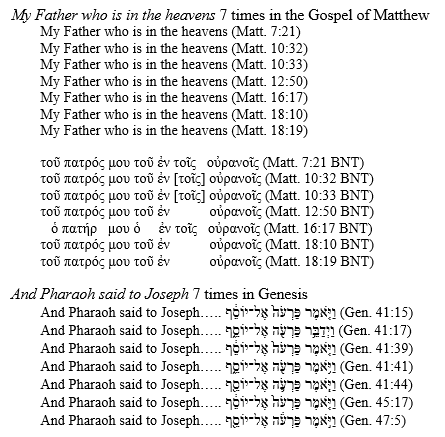 Example 1 - Repetition in the Bible